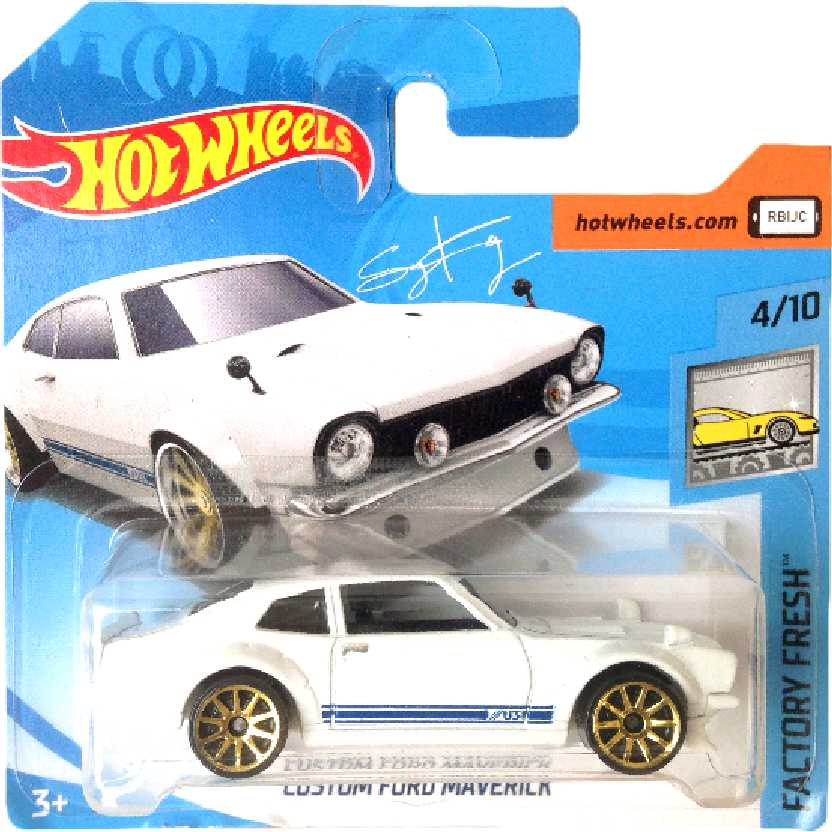 Cartela curta 2018 Hot Wheels Custom Ford Maverick series 97/365 4/10 FJV52 escala 1/64