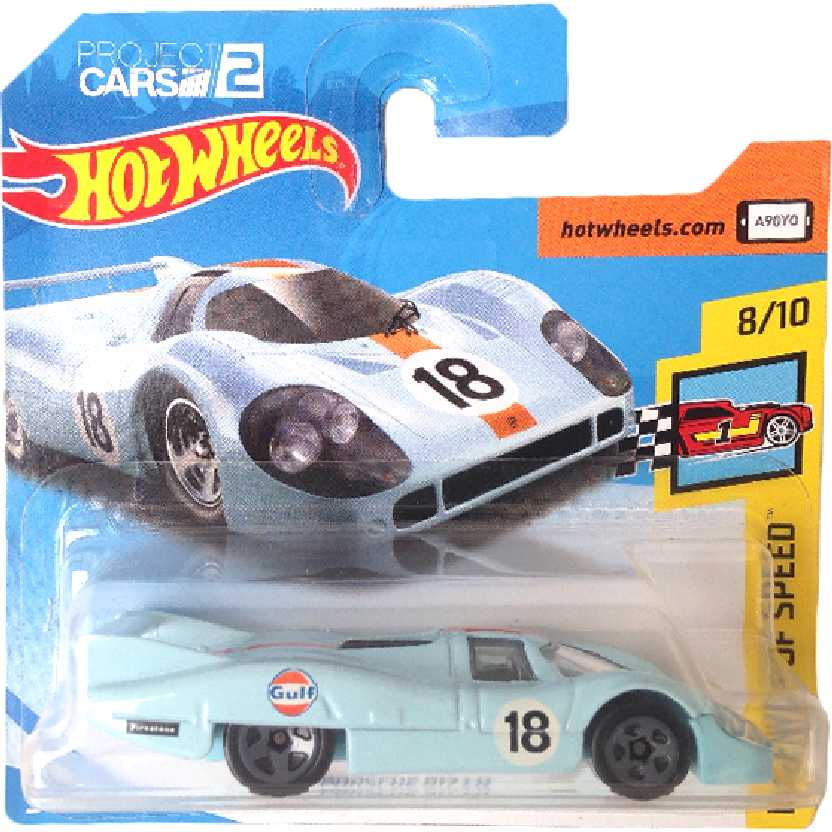 Cartela curta 2018 Hot Wheels Porsche 917 LH series 124/365 8/10 FJV93 escala 1/64
