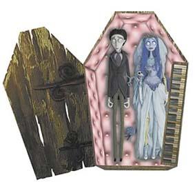Casal Noiva Cadáver + Cão (Piano box set) Tim Burton