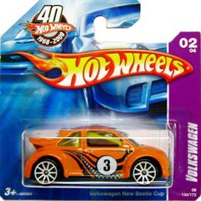 Catálogo 2008 Hot Wheels Volkswagen New Beetle Cup M6904 series 02/04 130/172