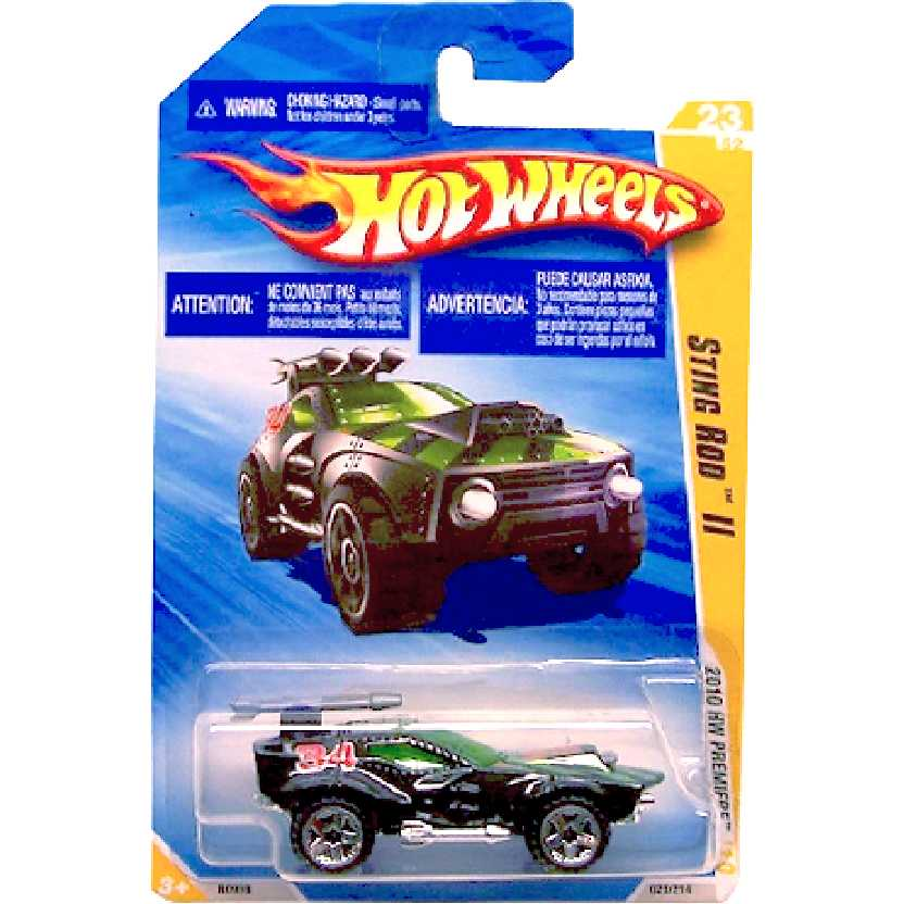 Catálogo 2010 Hot Wheels Sting Rod II preto series 23/52 023/214 R0938 escala 1/64