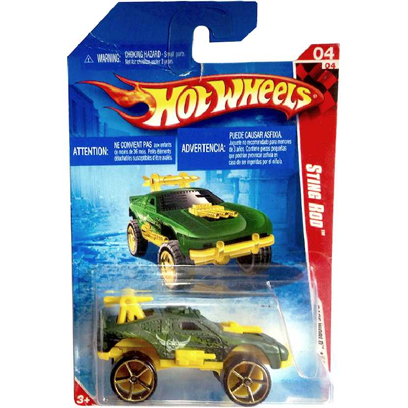 Catálogo 2010 Hot Wheels Sting Rod verde series 04/04 198/214 R7629 escala 1/64