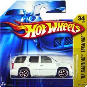Catálogo Hot Wheels 2006 07 Cadillac Escalade (2007) J3275 series 34/38 034/223
