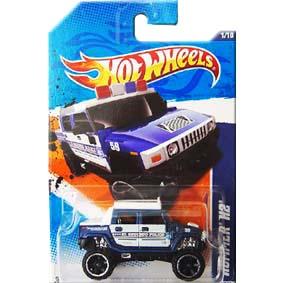 Catálogo Hot Wheels 2011 Hummer H2 Police Azul T9952 series 1/10 161/244