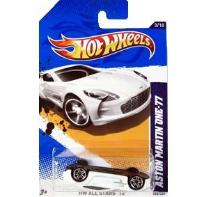 bcd246507 Catálogo Hot Wheels 2012 Aston Martin one-77 V5426   cartela com ...