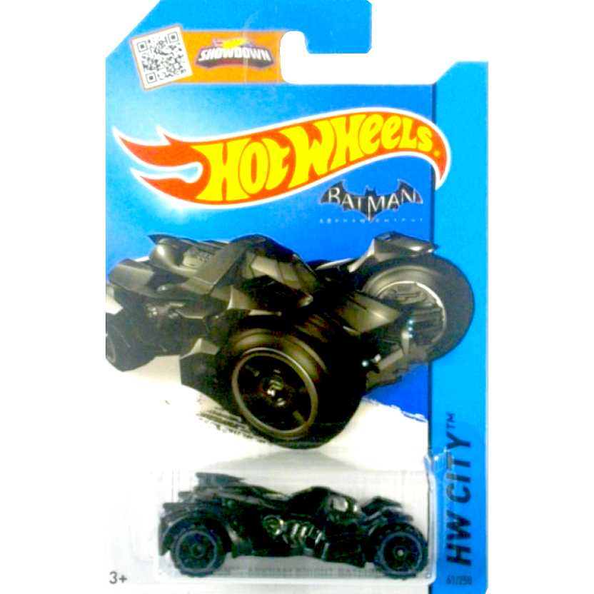 Catálogo Hot Wheels 2015 Batman : Arkham Knight Batmobile CFG82 series 61/250 escala 1/64
