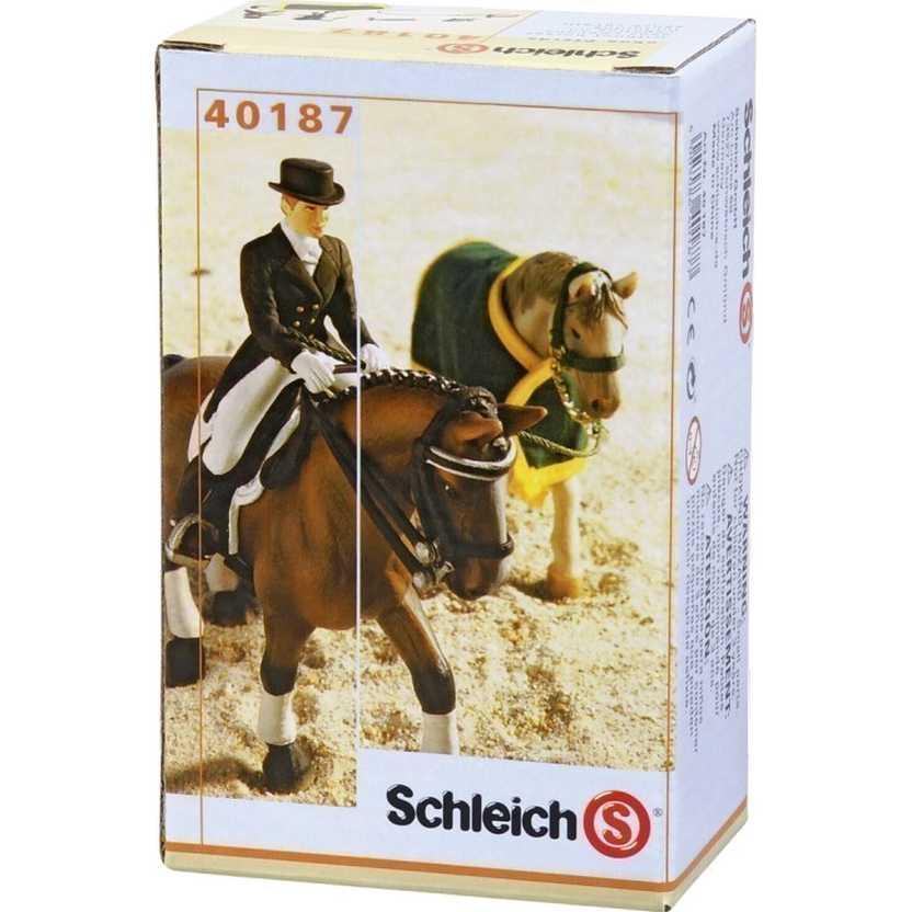 Cavaleiro de Equitação Schleich 40187 Dressage Riding Set figure (não acompanha cavalo)