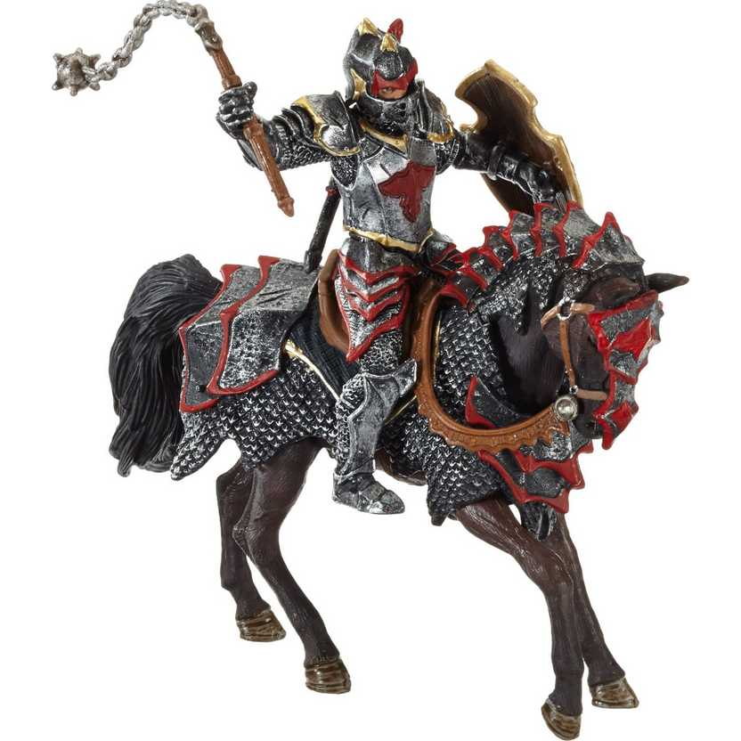 Cavaleiro do dragão no cavalo marca Schleich - 70101 Dragon Knights With Horse