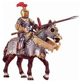 Cavaleiro montado com lança 70017