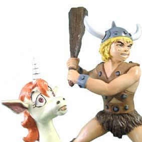 Caverna do Dragão ( Dungeons and Dragons ) Bobby O Bárbaro e Uni