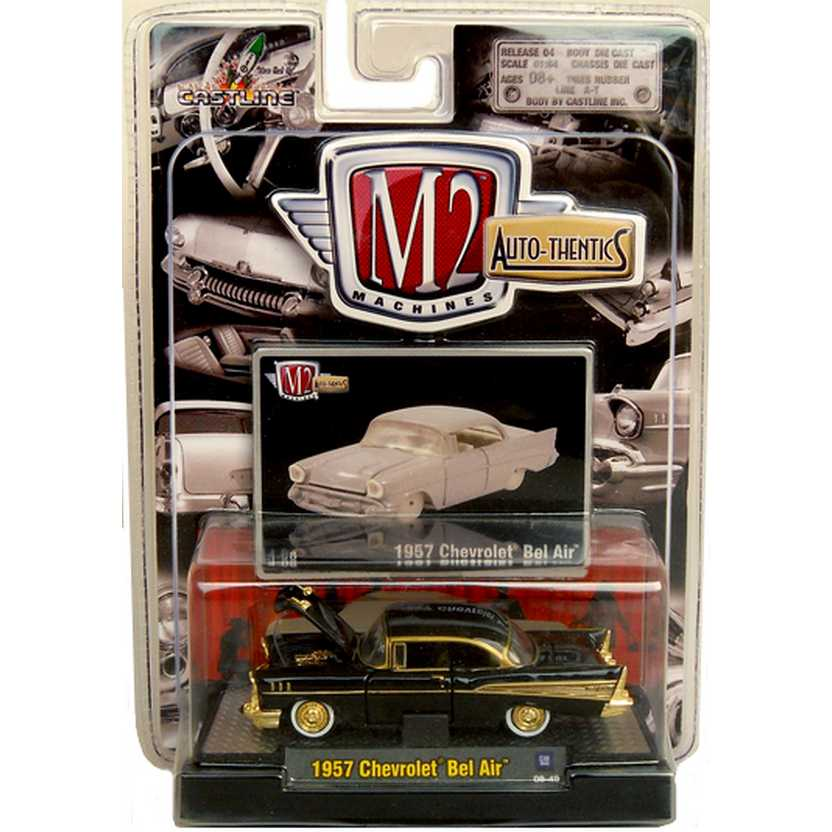Chase - M2 Machines série 4A R04A 31500 - Chevrolet Bel Air (1957) escala 1/64