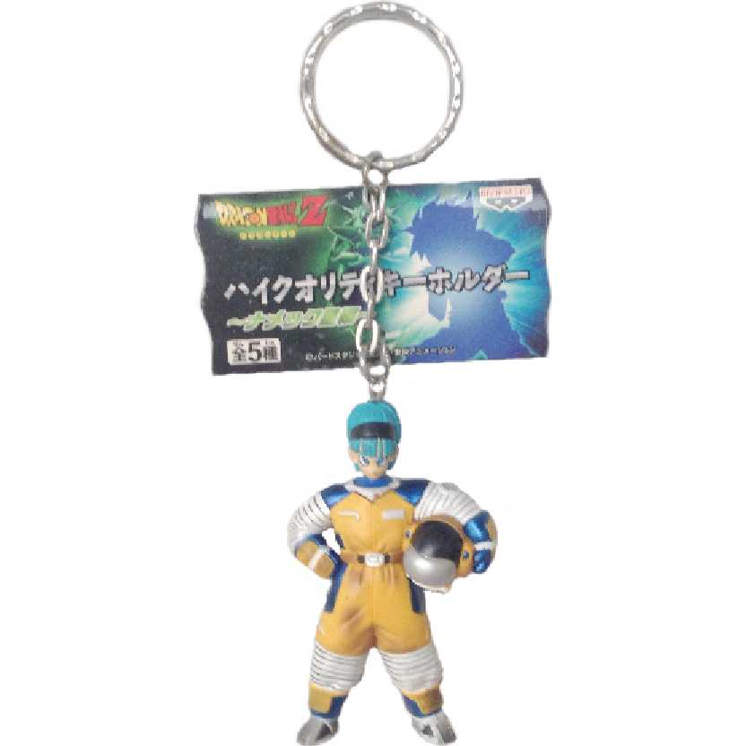 Chaveiro / Boneco Dragon Ball Z astronauta Bulma Motocross da Banpresto