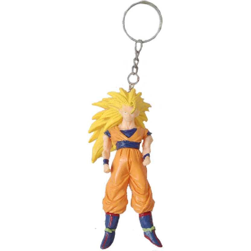 Chaveiro / Boneco Dragon Ball Z Super Saiyajin 3 Son Goku (Gokou) da Bandai figure