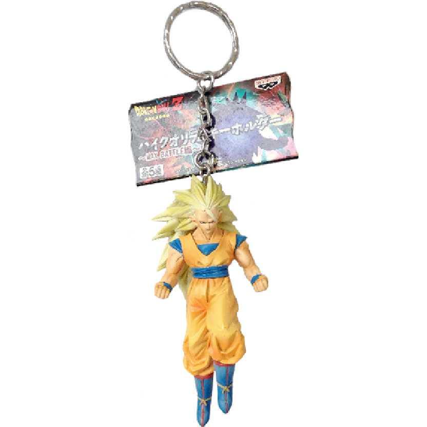 Chaveiro / Boneco Dragon Ball Z Super Saiyan 3 Son Goku (Gokou) da Banpresto figure