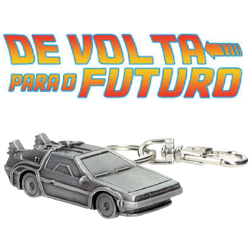 Chaveiro 3D de metal De Volta para o Futuro (Back To The Future) Delorean escala 1/64 SD Toys