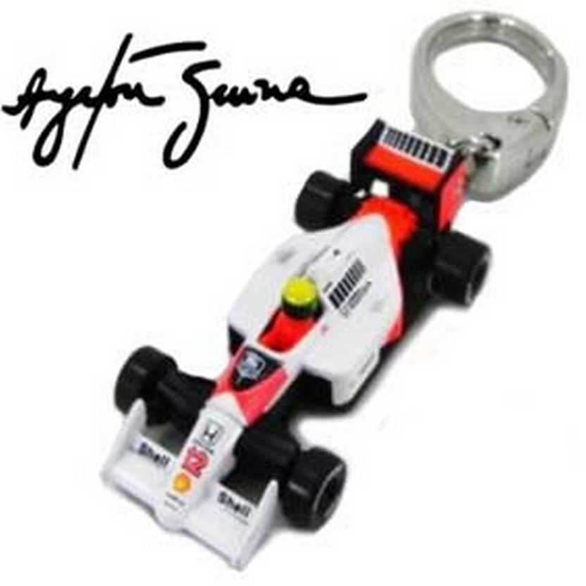 Chaveiro Ayrton Senna Kyosho Collection McLaren MP4/4 Honda (1988) F1 World Champion