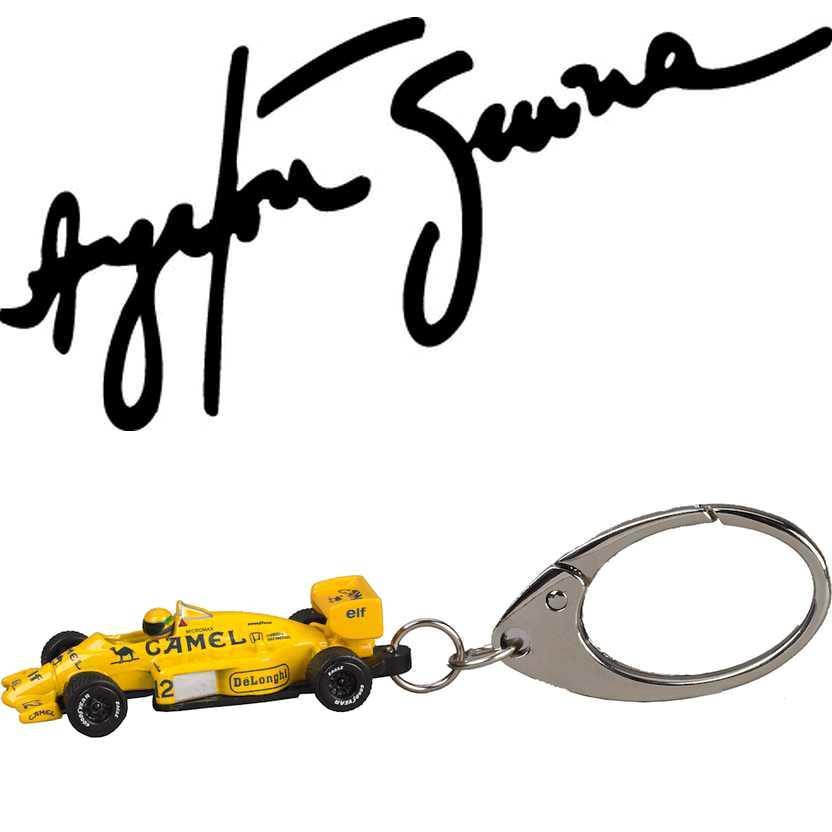 Chaveiro Ayrton Senna Lotus amarela 99T Renault (1987) PCT Premium Collectibles