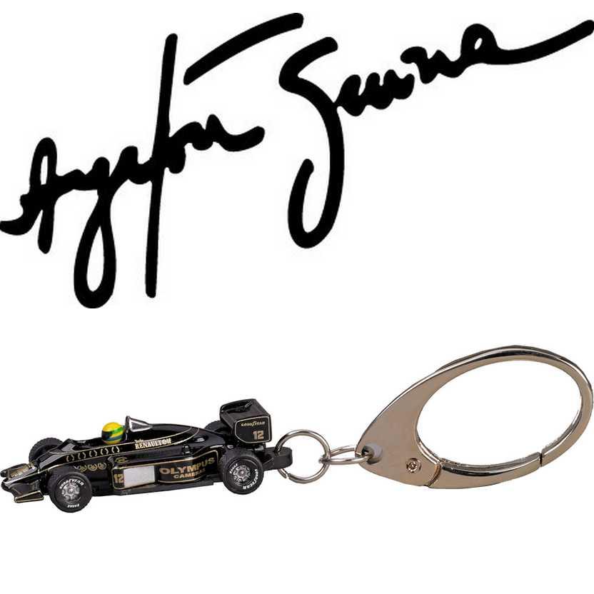 Chaveiro Ayrton Senna Lotus preta 98T Renault (1986)  PCT Premium Collectibles