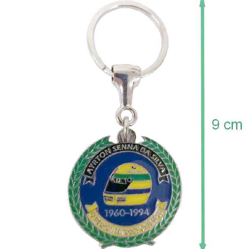 Chaveiro circular oficial Instituto Ayrton Senna da Silva (1960-1994)