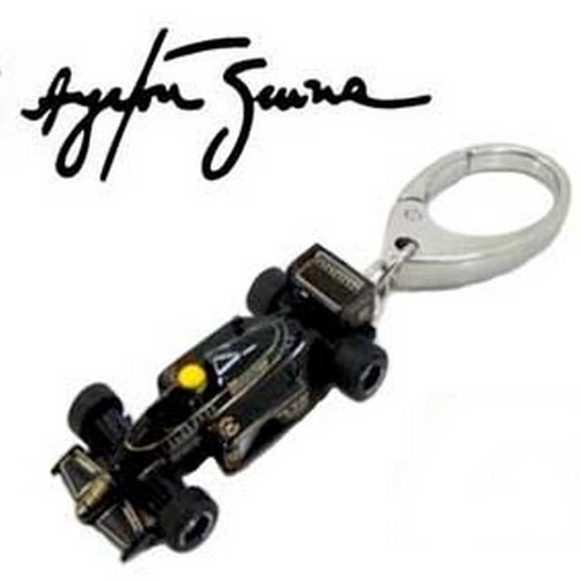 Chaveiro da coleção Ayrton Senna Kyosho F1 Collection Lotus 97T Renault (1985)