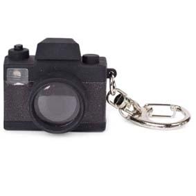 Chaveiro de câmera fotográfica com som e flash