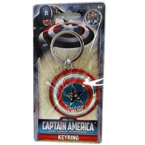 Chaveiro do Capitão América Marvel Studios The First Avenger Pewter Keyring