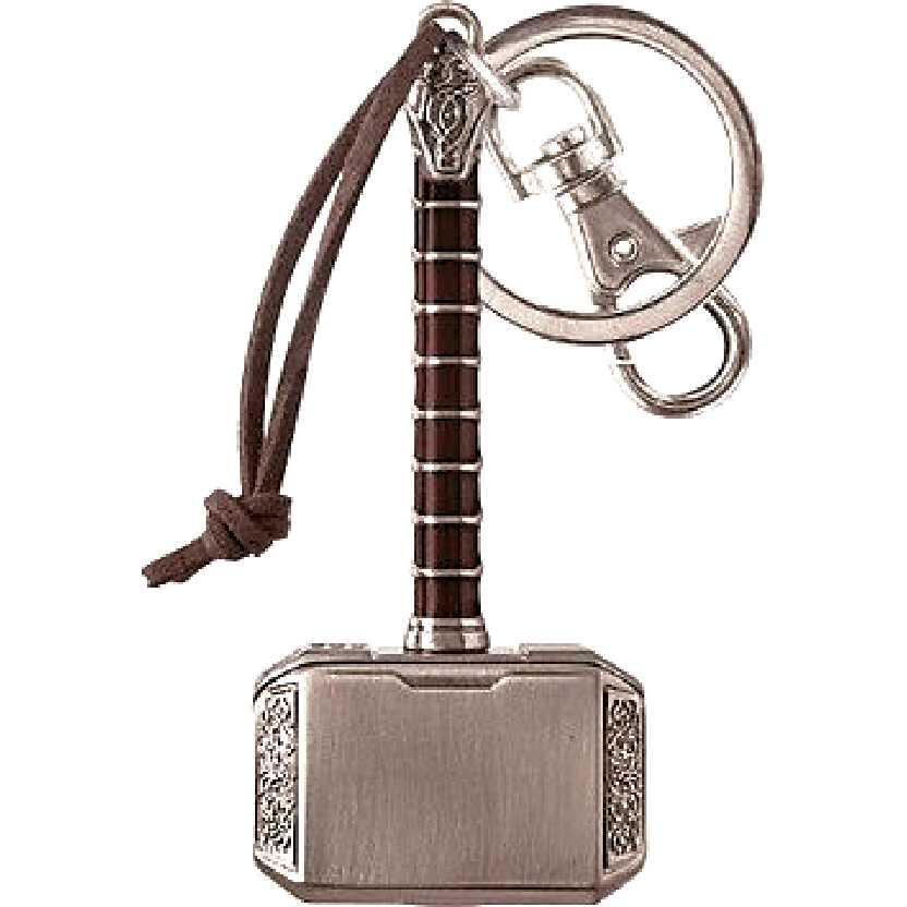 Chaveiro do Martelo do Thor (Mjolnir) Marvel Thor Hammer 2 Pewter Key Ring