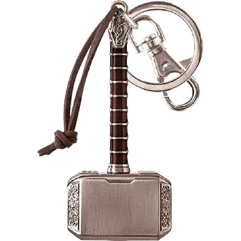 Chaveiro do Martelo do Thor (Mjolnir) Marvel Thor Hammer 2 Pewter Key Ring