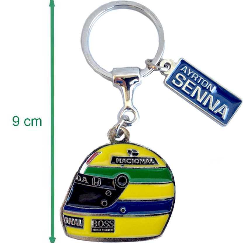 Chaveiro em metal do Capacete do Ayrton Senna : oficial Instituto Ayrton Senna