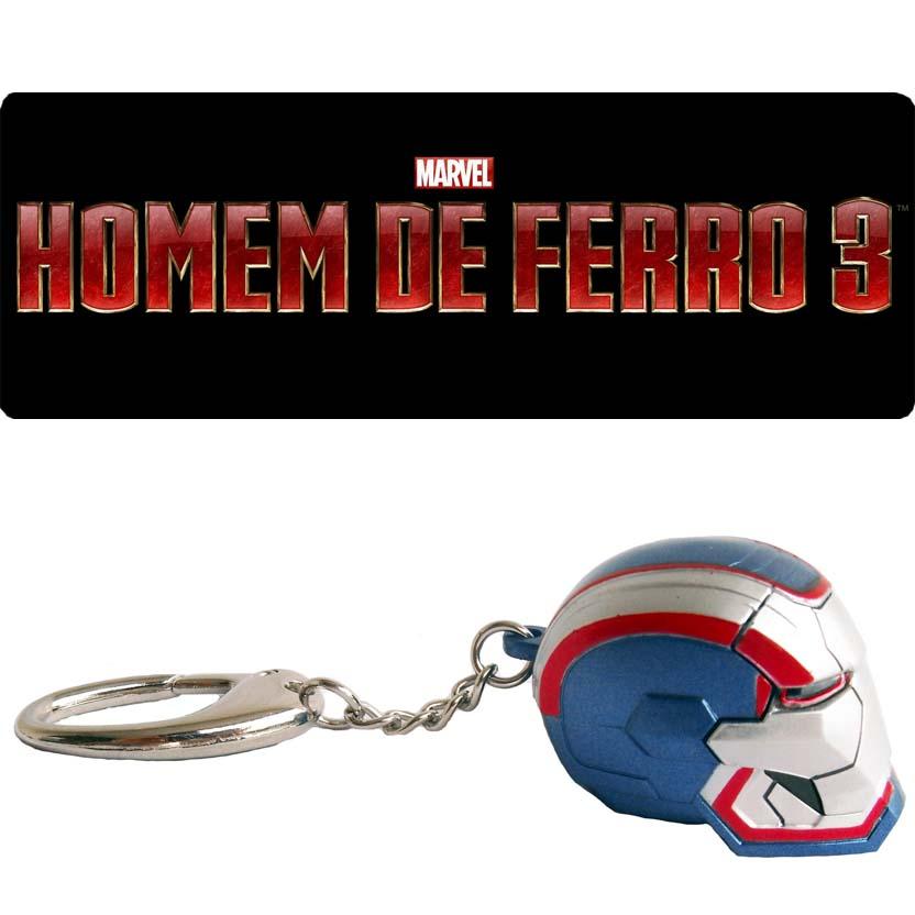 Chaveiro Homem de Ferro 3 : Iron Patriot (Iron Studios / PiziiToys) acende os olhos -  Iron Man 3