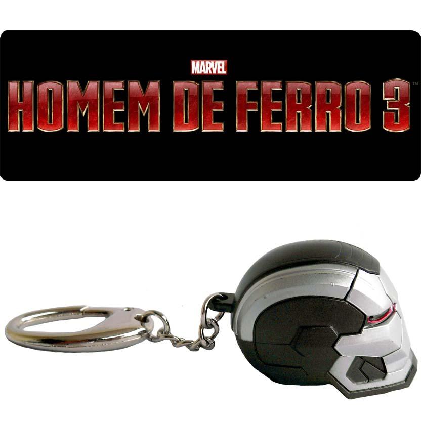 Chaveiro Homem de Ferro 3 War Machine (Iron Studios / PiziiToys) acende os olhos - Iron Man 3