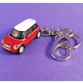 Chaveiro Mini Cooper S marca Welly Chaveiros escala 1/87 HO