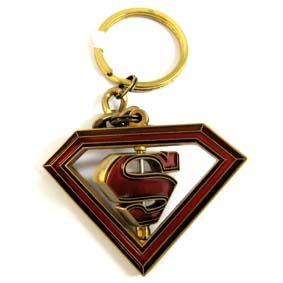 Chaveiro Superman logo giratório