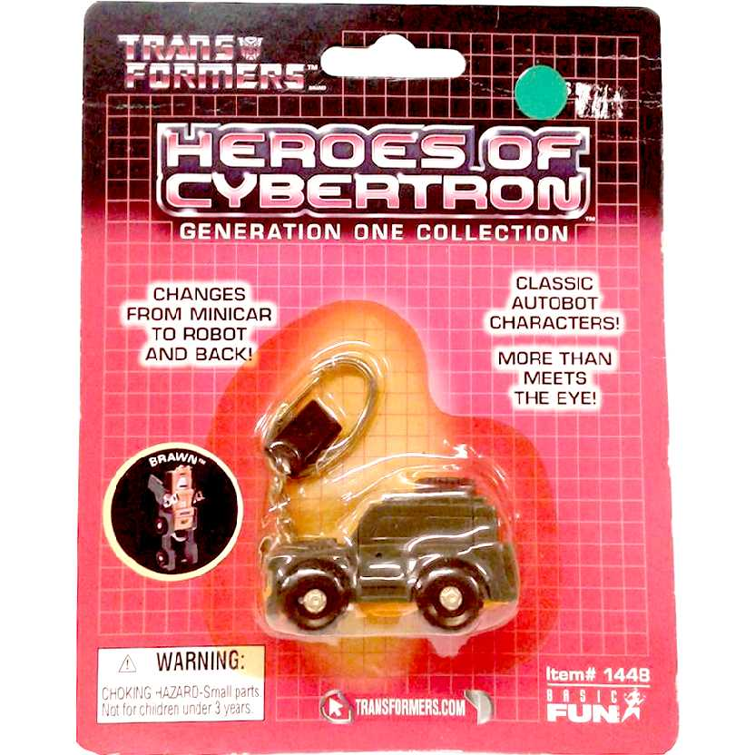 Chaveiro Transformers Brawn (Heroes of Cybertron) G1 Collection marca Basic Fun