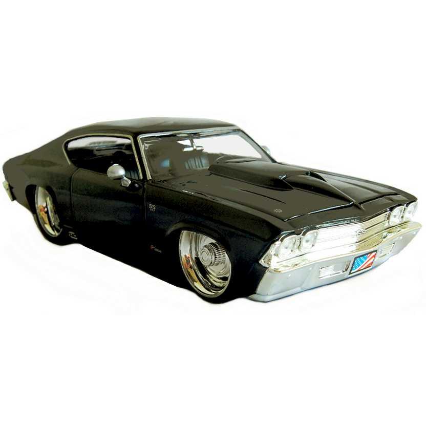 Chevrolet Chevelle SS preto (1969) Chevy marca Jada Toys escala 1/24