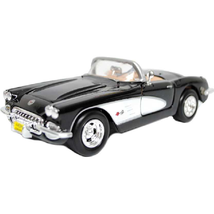 Chevrolet Corvette (1959) preto marca Motormax escala 1/24