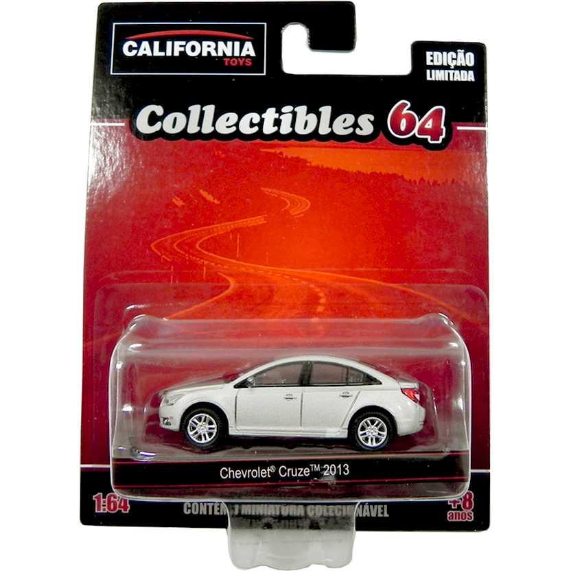 Chevrolet Cruze 2013 prata - coleção California Toys Collectibles series 2 escala 1/64