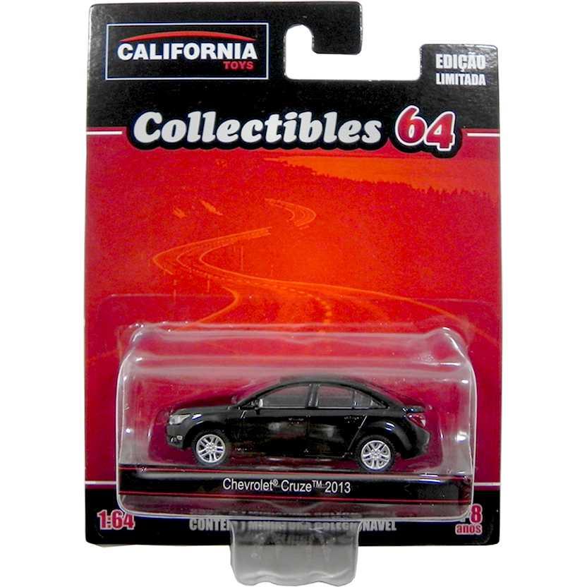 Chevrolet Cruze 2013 preto da coleção California Toys Collectibles series 2 escala 1/64