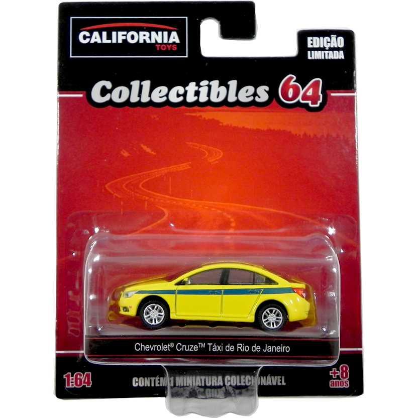 Chevrolet Cruze - Táxi do Rio de Janeiro California Toys Collectibles series 2 escala 1/64