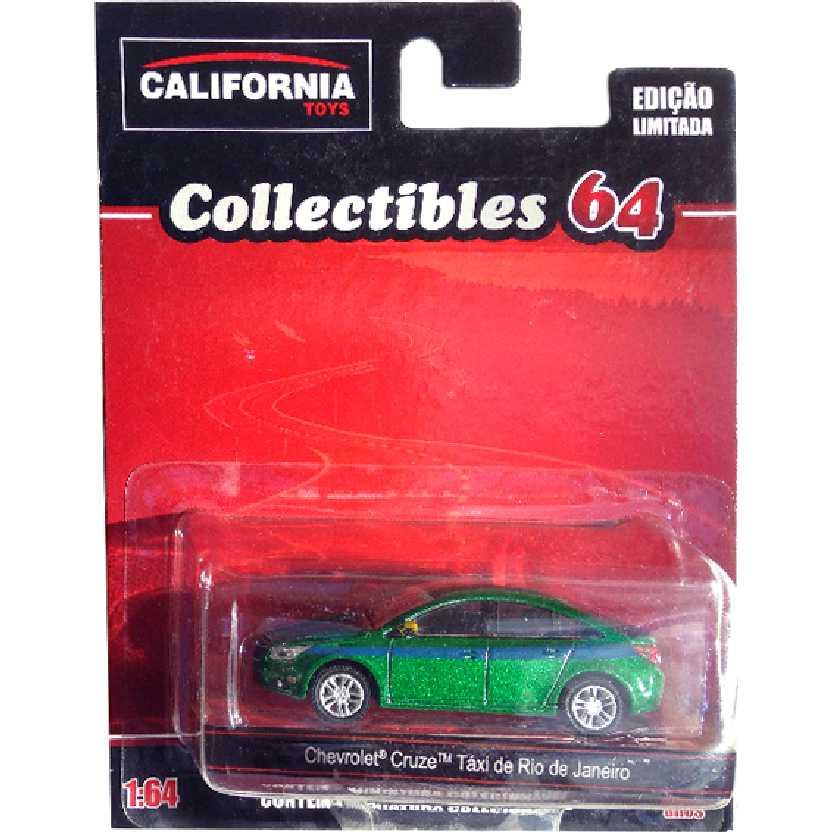 Chevrolet Cruze Táxi do Rio de Janeiro Green Machine California Toys escala 1/64