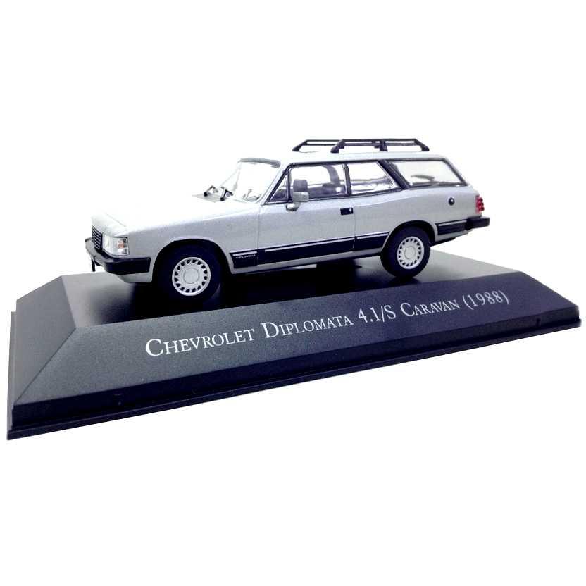 Chevrolet Diplomata 4.1/S Caravan 1988 Coleção Carros Inesquecíveis Do Brasil escala 1/43