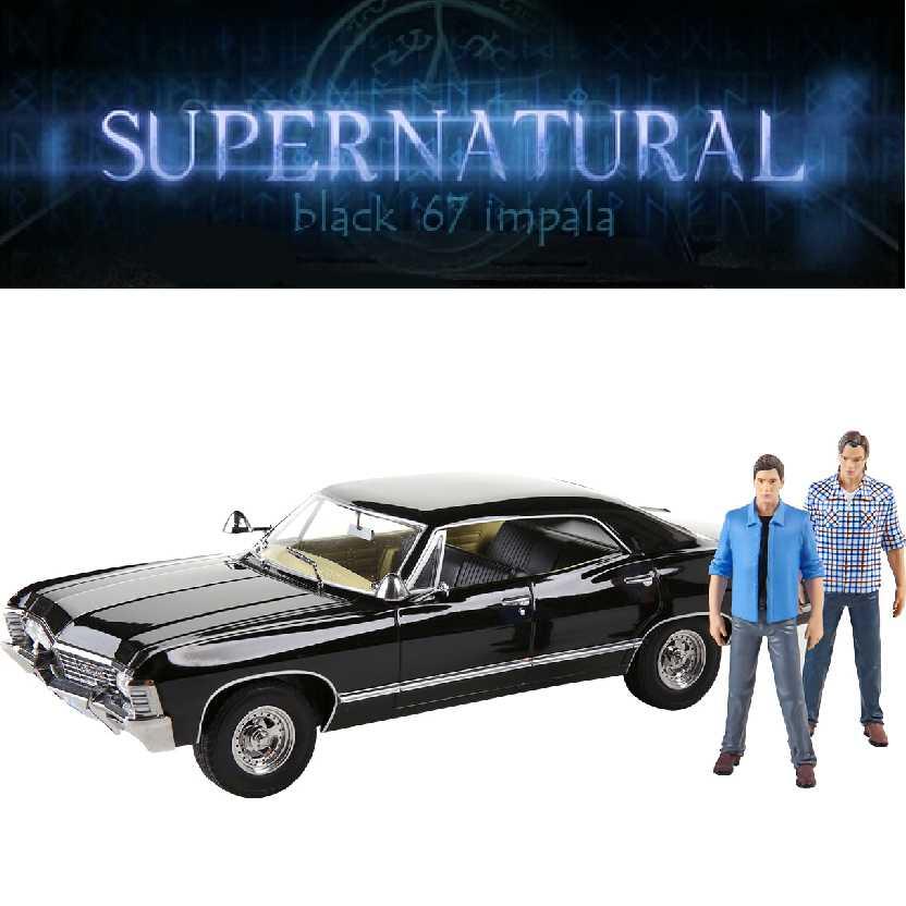 Chevy Impala SS427 (1967) Chevrolet preto do Supernatural + Sam + Dean escala 1/18