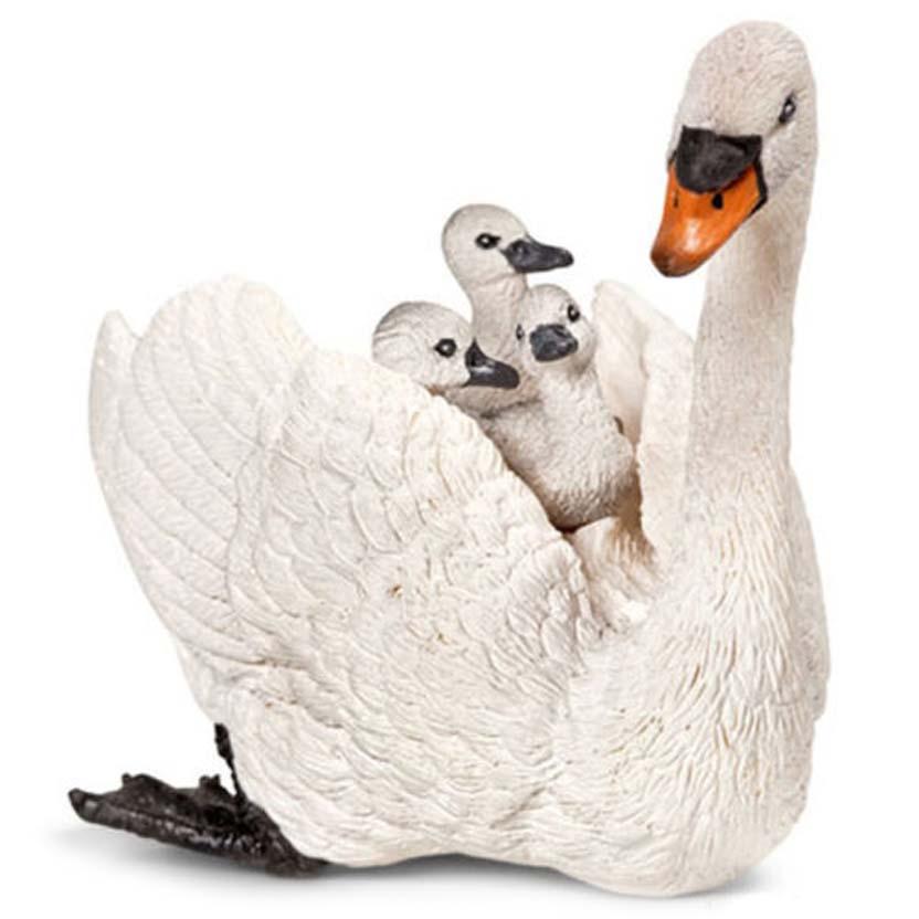 Cisne branco com filhotes 13718 - Catálogo Schleich 2013