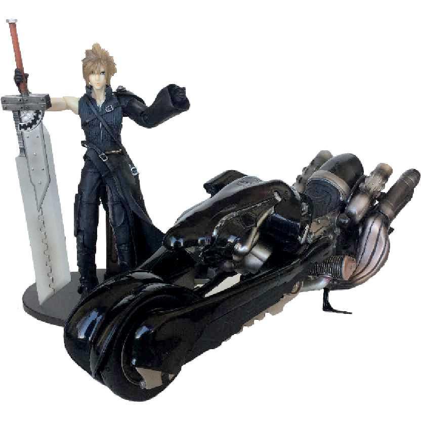 Cloud Strife & Fenrir Motorcyle Final Fantasy 7 Play Arts Kai (ABERTO)