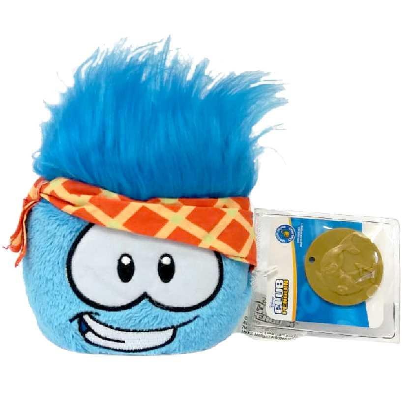 Club Penguin Puffle azul series 12 + moeda (4 polegadas)