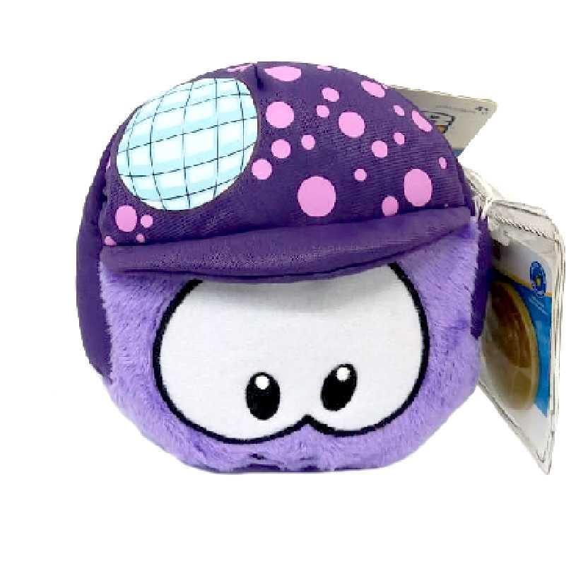 Club Penguin Puffle roxo series 12 + moeda (4 polegadas)