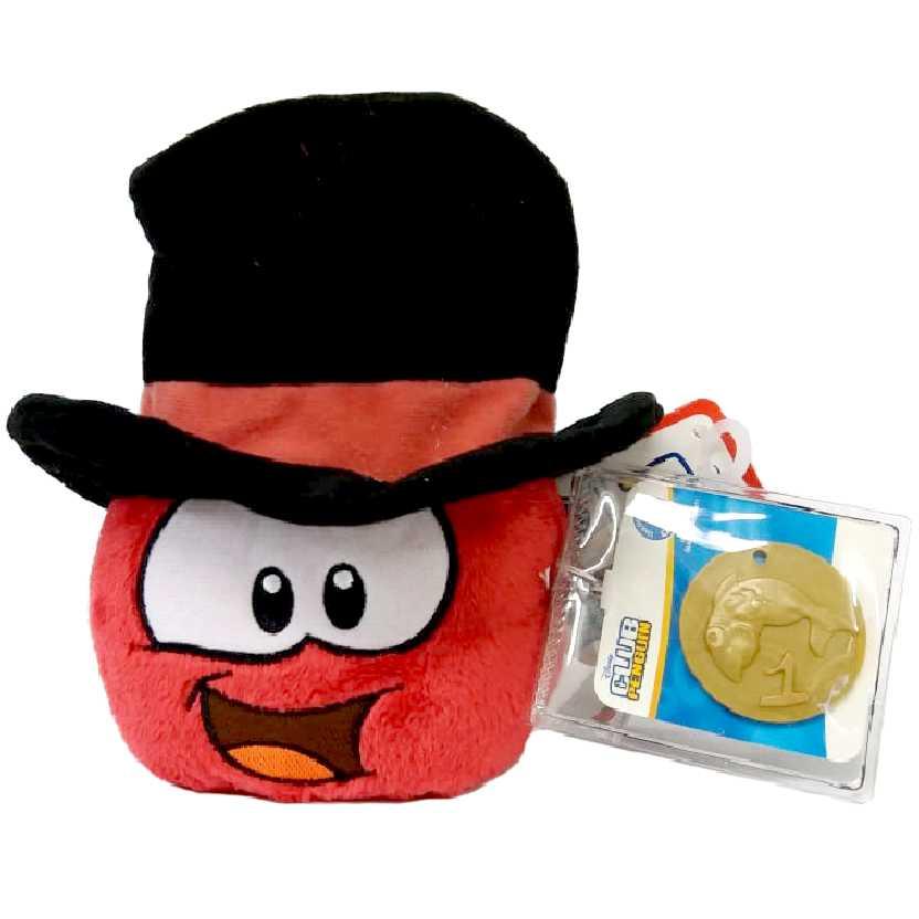 Club Penguin Puffle vermelho series 12 + moeda (4 polegadas)