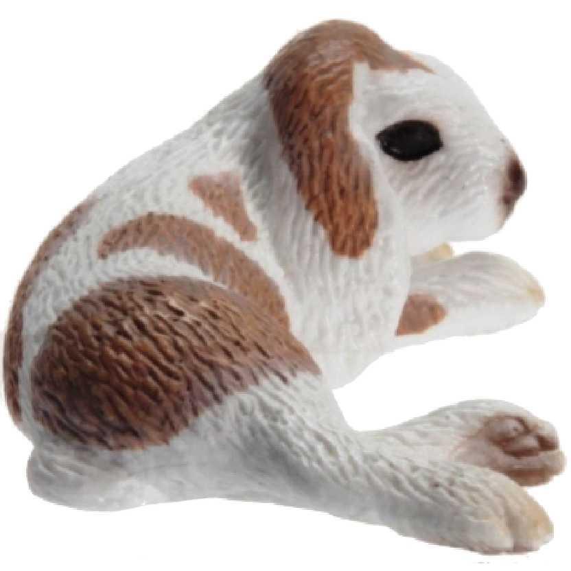 Coelho Deitado Schleich 13697 Lying Dwarf Lop Rabbit Figure