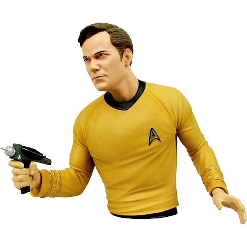 Cofre Star Trek Capitão Kirk ( William Shatner ) Diamond Bust Bank Captain James Tiberius Kirk