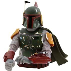 Cofre Star Wars - Boba Fett Bust Bank Diamond Select Toys